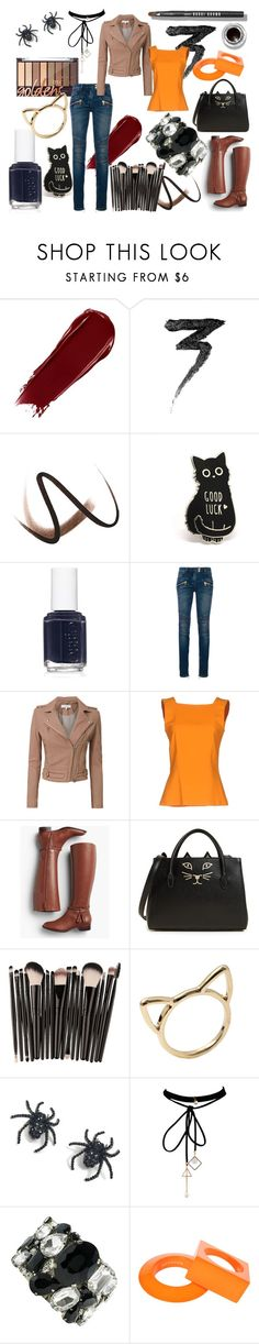 """""""Everyday Costume"""" by rapunzel-ii ❤ liked on Polyvore featuring Manic Panic NYC, Burberry, Essie, Balmain, IRO, MARCOBOLOGNA, Talbots, Charlotte Olympia, Tarina Tarantino and WithChic"""