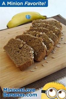 Looking for a tasty way to add healthy seeds to your diet? Try four of them in this whole-grain Chiquita Banana loaf! Chia seeds and ground flax seeds provide alpha-linolenic acid, a vegetarian source of omega-3 fatty acid, and poppy and sunflower seeds add healthy polyunsaturated fats.