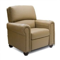 Bass Showtime Home Theater Recliner Type: Not Motorized, Upholstery: Nusuede - Antilope