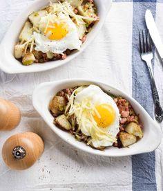 "A yummy breakfast recipe shared by Bryan & Sarah Baeumler! Pre-order ""Canada's Culinary Heritage"" today! canada2017.org Sarah Baeumler, Delicious Breakfast Recipes, Canada, Ethnic Recipes, Food, Meals, Yemek, Eten"