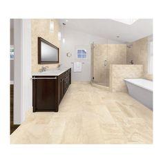shop style selections geneseo beige porcelain floor tile (common