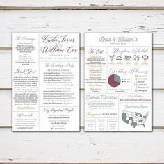 wedding program infographic printable modern fun entertaining
