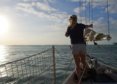 The sails go up as soon as we;'re out of the harbour - Key West
