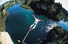 Bungee jumping - but only if there is a body of water under me.  I'm not that adventurous-or stupid!