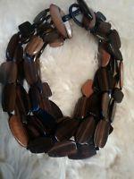 Statement Paris Runway Monies Gerda Lynggaard  Moonies wood 6 strands necklace