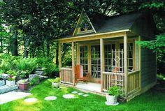 Rustic Garden Sheds With Porches | 10 INCREDIBLEBACKYARD SHEDS-Kiplinger