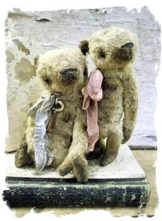 Tattered book and bears