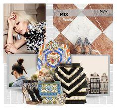 """""""Pattern Mix Master"""" by bklana ❤ liked on Polyvore featuring Dolce&Gabbana, Balmain, Jimmy Choo, Erickson Beamon and patternmixing"""