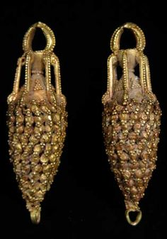 Pair of Parthian Gold Earrings. Origin: Central Asia. Circa: 1 st Century AD to 2 CE.
