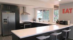 glass and stone tile #backsplash #diy #kitchen