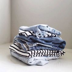 I can never get enough denim or stripes......or denim!