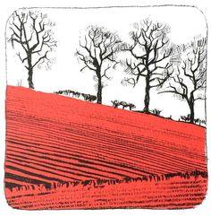 Landscape Prints, Landscape Art, Landscape Paintings, Landscapes, Bus Art, Handmade Stamps, Linoprint, Ink Illustrations, Land Art