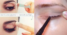 Instead of looking straight ahead in a mirror, tilt your head up and look down as you apply your eyeliner. 21 Eye Makeup Tips Beginners Secretly Want To Know Beauty Quotes, Beauty Art, Diy Beauty, Beauty Skin, Beauty Makeup, Beauty Tips, Makeup Style, Simple Eye Makeup, Eye Makeup Tips