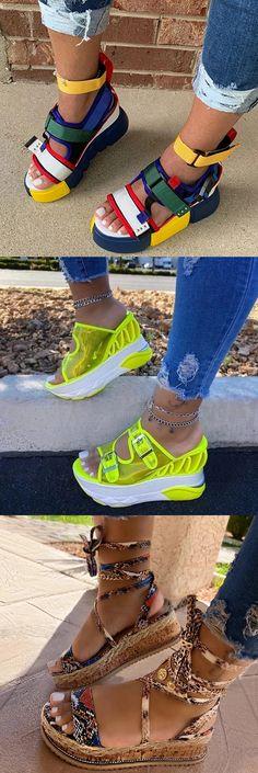 Platform pumps – High Fashion For Women Trendy Sandals, Cute Sandals, Summer Sandals, Jordan Shoes Girls, Girls Shoes, Teen Fashion Outfits, Fashion Shoes, Jugend Mode Outfits, Cute Sneakers