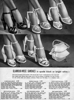 Lovely shoes and bags from the 40's- want!