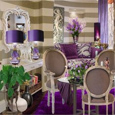 Love this for a sitting or dressing area.