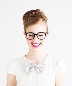 glasses / ban.do girlie bow