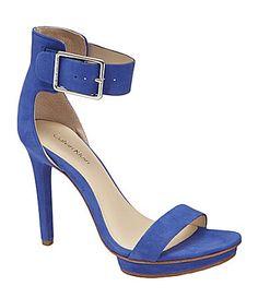 Calvin Klein Vivian Sandals #Dillards In taupe