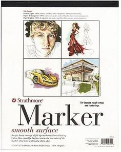 Strathmore 500 Series Marker Paper Pad (11 In. x 14 In.)