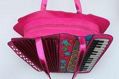 Fabric accordion bag idea - inside