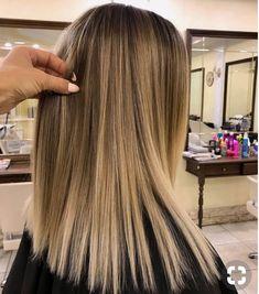 Subtle blond ombré on light brunette base