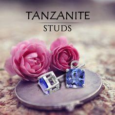 Enjoy most elegant look with this pretty design of #tanzaniteStuds.