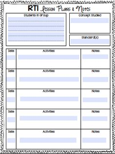 RTI Notebook-Organizational Ideas and FREE printables!