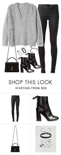 """""""Untitled #4814"""" by fashionnfacts ❤ liked on Polyvore featuring Diesel, Yves Saint Laurent, ASOS and Monica Vinader"""