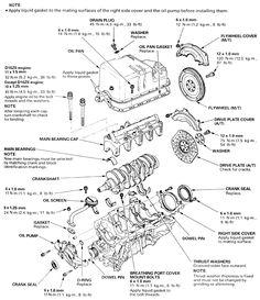 Honda Accord Engine Diagram   Diagrams: Engine parts
