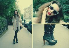 Jeffrey Campbell Shoes, Alexander Wang Sunglasses, Vintage From Paris Bag