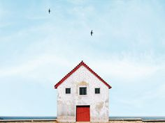 Manuel Pita's Instagram is full of bright structures that stand alone against a big blue sky.