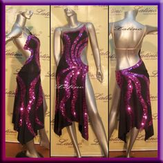 Latin Rhythm Salsa Ballroom Competition Dance Dress