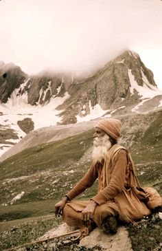 A yogi in the mountains. Like if you think he's seen the face of the Infinite.