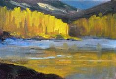 Small Landscape Oil Painting Original Trees by smallimpressions, $35.00
