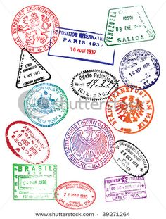 passport stamps as cupcake toppers!