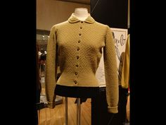 Basket-weave bouclé cardigan with a round cutaway collar, retailed by Jenners, Edinburgh, 1940s. #Pringle200years #Knitwear #Fashion http://www.nms.ac.uk/fullyfashioned