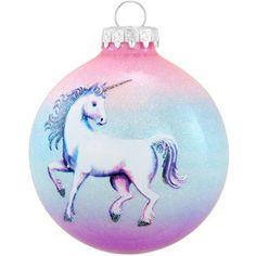 Unicorn Legend Glass Sparkle Ornament
