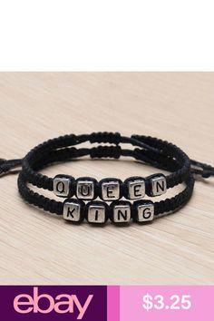 d10e56fe12 Couple Handmade Bracelets King And Queen His Hers Charm Bracelet Bangle  Gift Pop