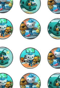 FREE Octonauts Birthday Party cupcake toppers, banner, and water bottle label Printables