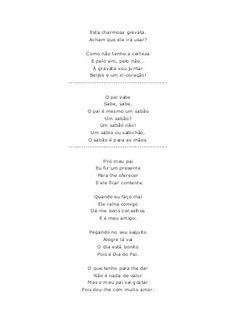 Poemas dia do pai