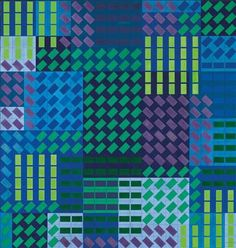 Victor Vasarely  (Pecs, Hungary 1906–1997 Paris)  'Hekla Vert', 1964, signed Vasarely, titled, signed, dated and numbered 0547, Vasarely 1964 on the reverse, acrylic on board, 84 x 80 cm, framed, (AR)