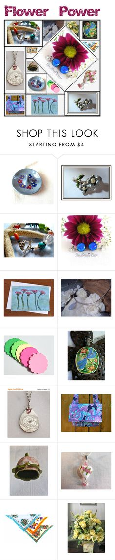 """""""Flower Power"""" by boardartistry ❤ liked on Polyvore featuring flowerpower, epiconetsy and crazy4etsy"""