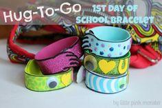 Hug-to-Go First Day of School Bracelet by @Natasha Elisa #Michaelsbts