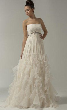 Floor-length maternity Wedding Dress from woweddingdress.com. Saved to Maternity Wedding Dresses. #gonnaneed.
