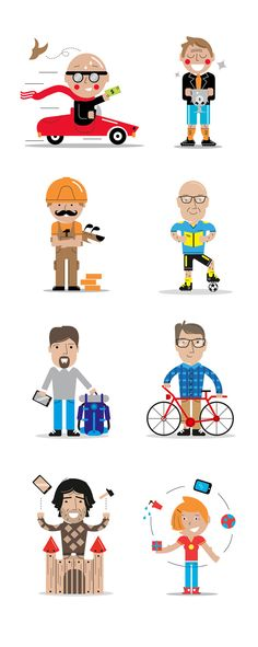 Youp! Illustrations by Adam Quest, via Behance