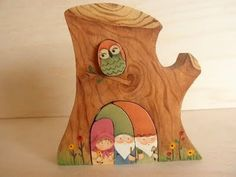 momnme etsy tree with nesting owl and gnomes.....OMG!  I LOVE this!!  I would love to have one for my UP house!!