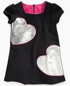 So La Vita Girls Dress, Little Girls Ponte Heart Dress - Kids Girls 2-6X - Macy's $26.60 #MacysBTS