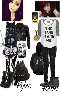 """""""When Rebel meets Rylee Iero"""" by gracetheleprechaun ❤ liked on Polyvore"""