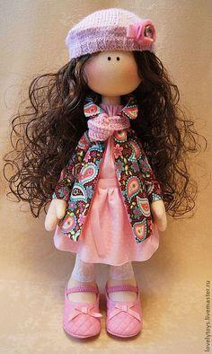 Купить текстильная кукла EMMA - розовый, текстильная кукла, авторская ручная работа, авторская кукла