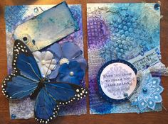 Art Journal tip ins swap 4x6 altered postcards #maremismallart #timholtz